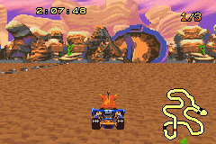 Crash Nitro Kart - look for a camp fire - User Screenshot